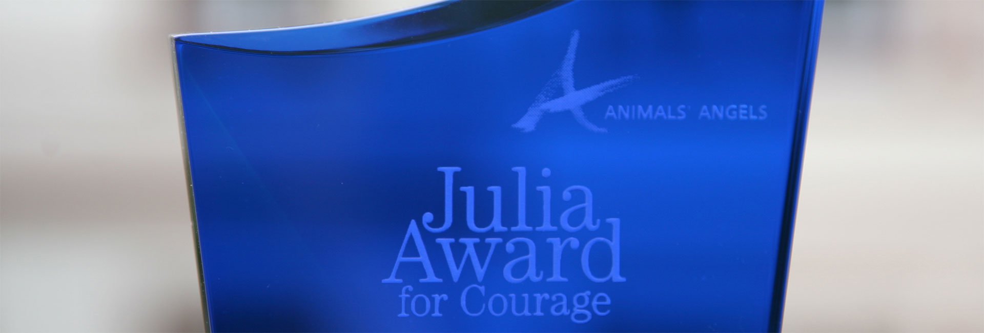 Animals' Angels Julia Award for Courage