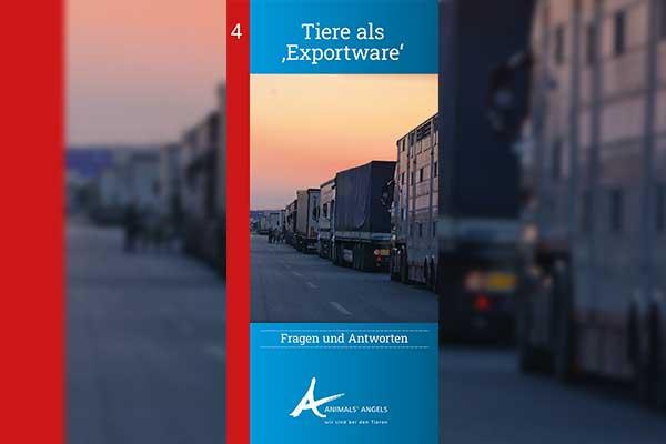 Tiertransporte aus der EU in Drittländer, Infoflyer
