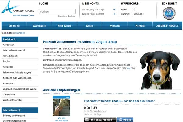 Animals' Angels-Onlineshop