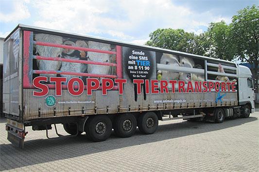 LKW-Plane Stoppt Tiertransporte