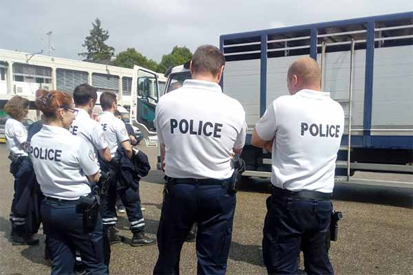 Animals' Angels Training Police Officers in France in Animal Transport Inspections