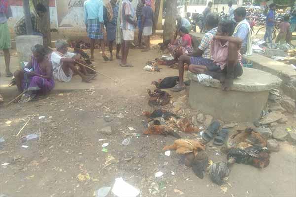 Markttreiben in Narsipatnam, Indien