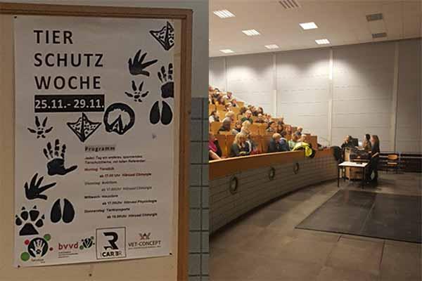 Animals' Angels hält einen Vortrag bei der Tierschutzwoche an der Veterinäruniversität Gießen
