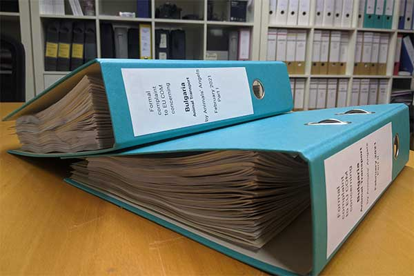 Our Complaint: Two Folder with 1.300 Pages