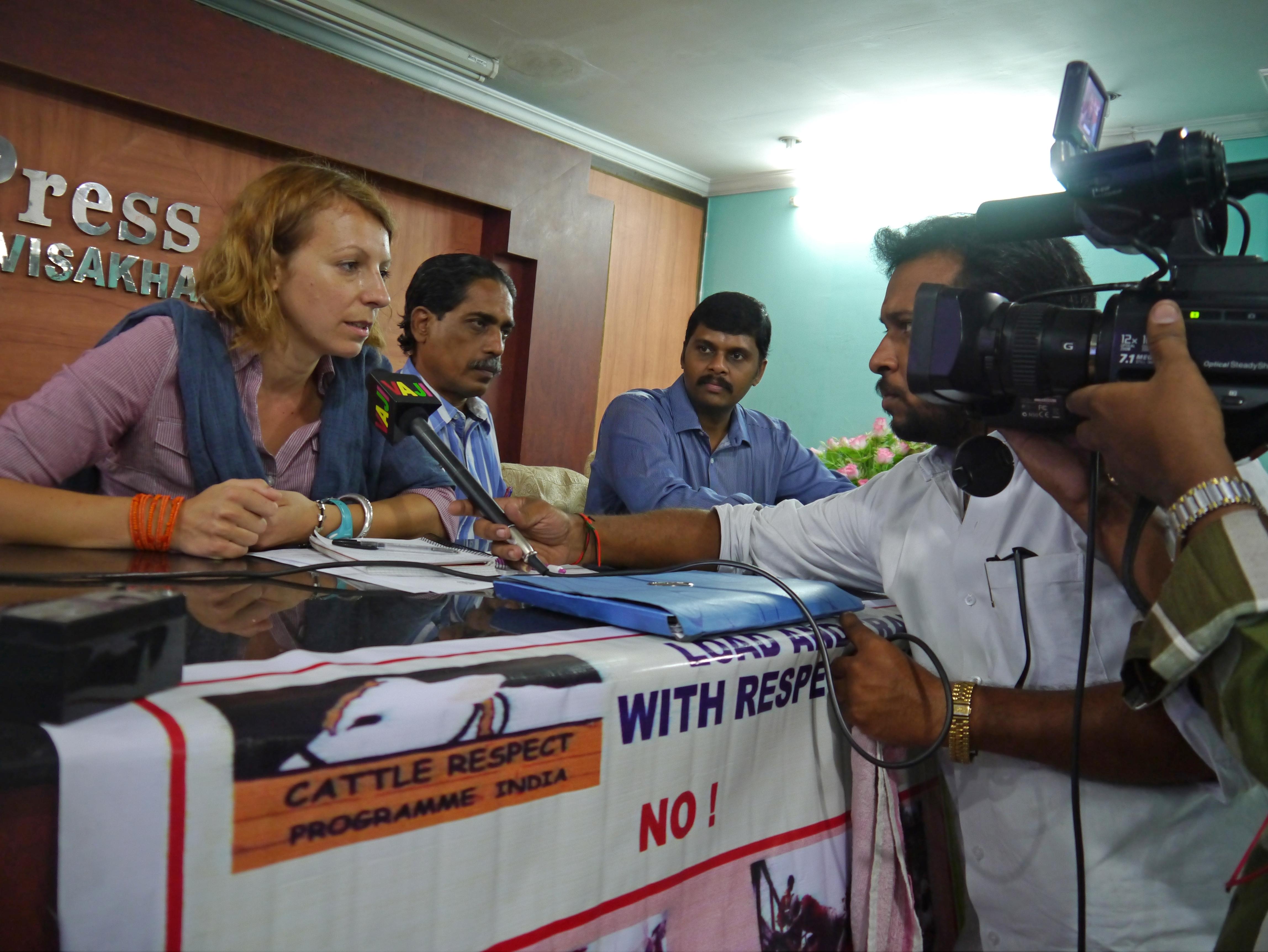 CRPI Indien, Pressekonferenz