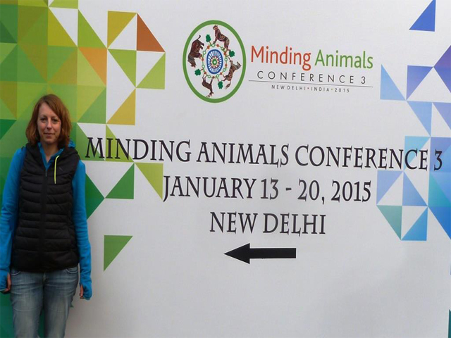 Animals' Angels auf der Minding Animals Conference in Neu Delhi, Indien