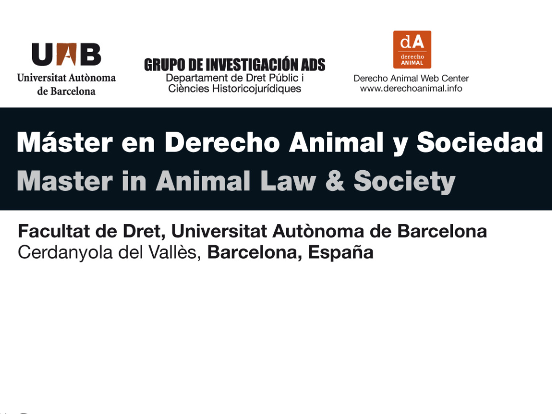 Master in Animal Law & Society, UAB Barcelona