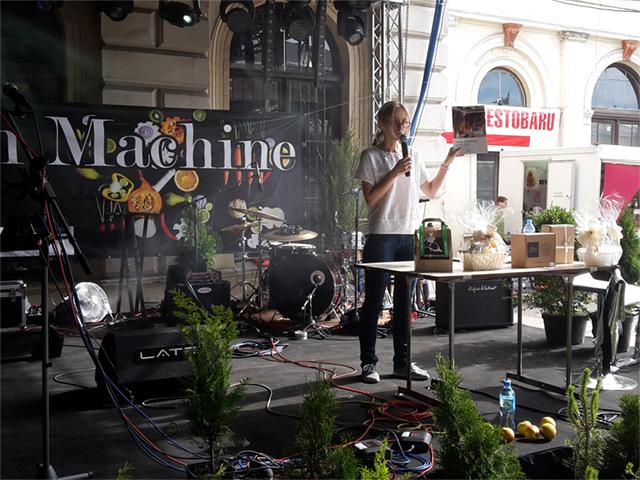 Viva! Interwencje auf dem Vegan Machine Festival in Wroclaw.