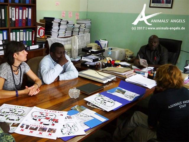 Animals' Angels stellt das Schulungs-Paket am Veterinärcollege in Morogoro, Tansania, vor.