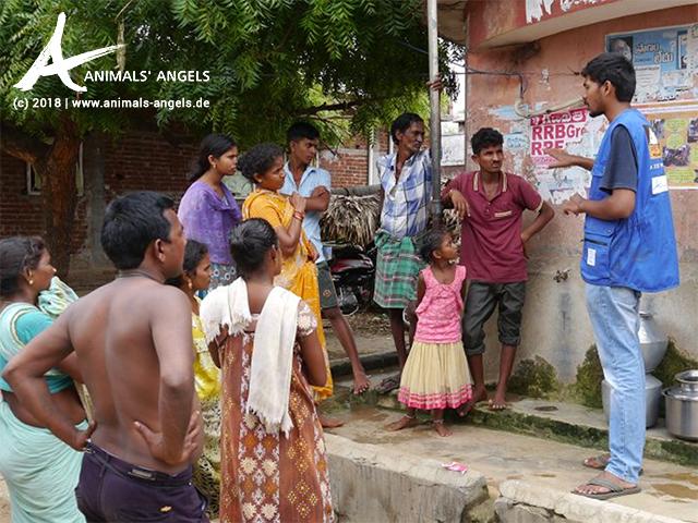 Aufklärungskampagne zum Schutz der Kälber in Bhimunipatnam