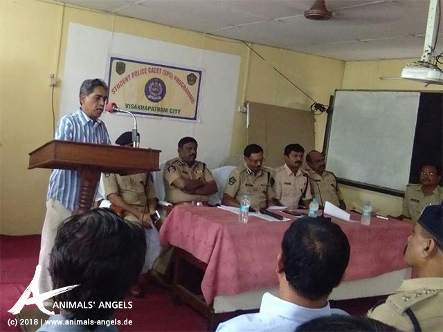 Tierschutztraining an der Polizeiakademie