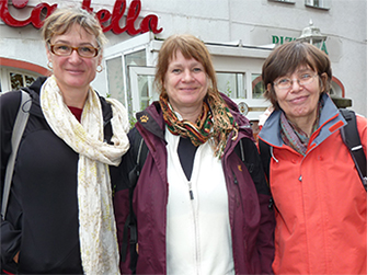 Die Pilgerinnen: Cornelia Philipp, Claudia Warncke und Andrea Lara Lobos